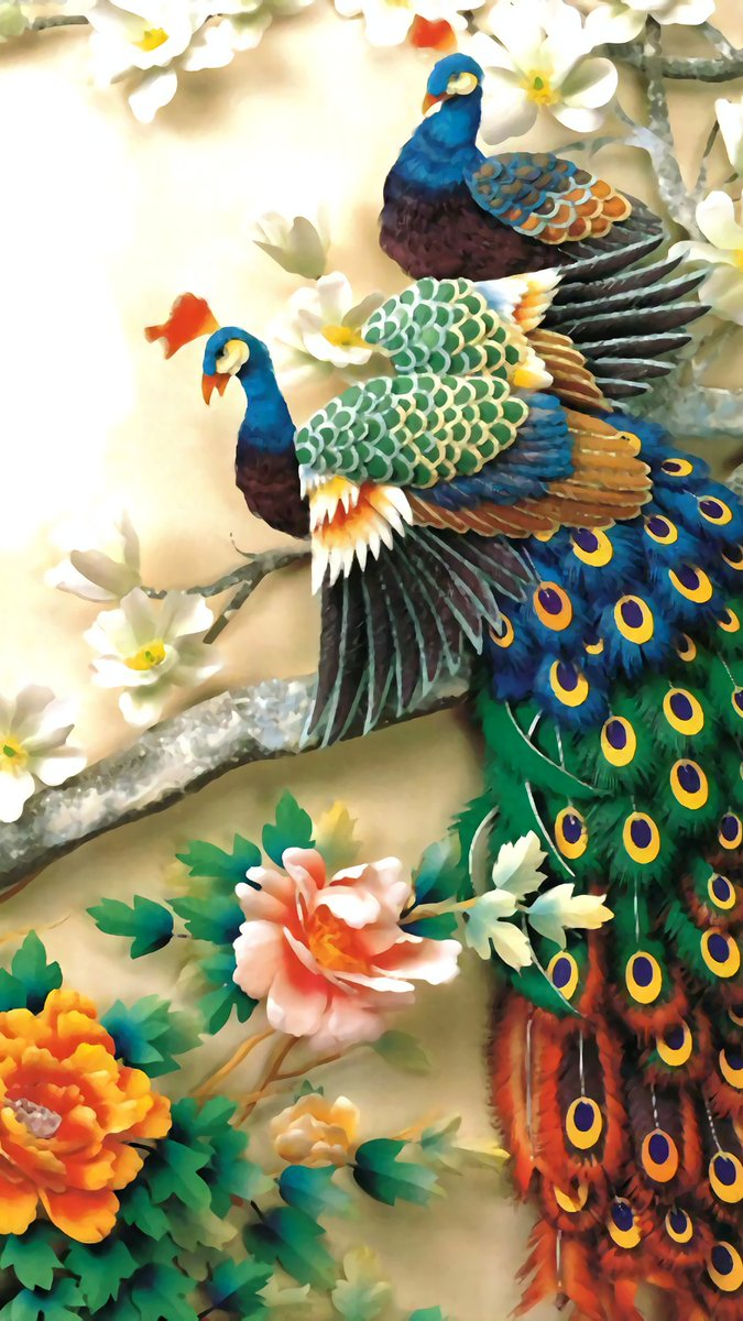#awesome #bird #art #painting #artwork #beautiful #colors   ~ peacock <br>http://pic.twitter.com/syzlJTGNcP