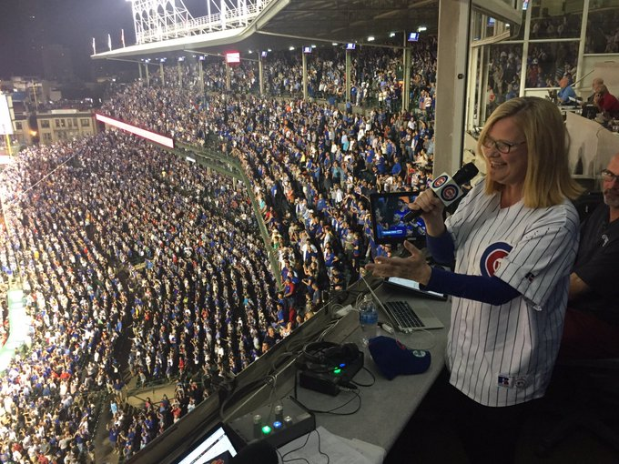 Today we wish a very happy birthday to one of the biggest Cubs fans around, our great friend Bonnie Hunt!
