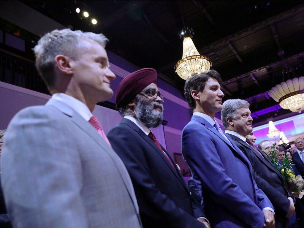 Célébration des premiers #JeuxInvictus de l'Ukraine ce soir avec @poroshenko, @HarjitSajjan, @SeamusORegan et le Congrès ukrainien canadien.
