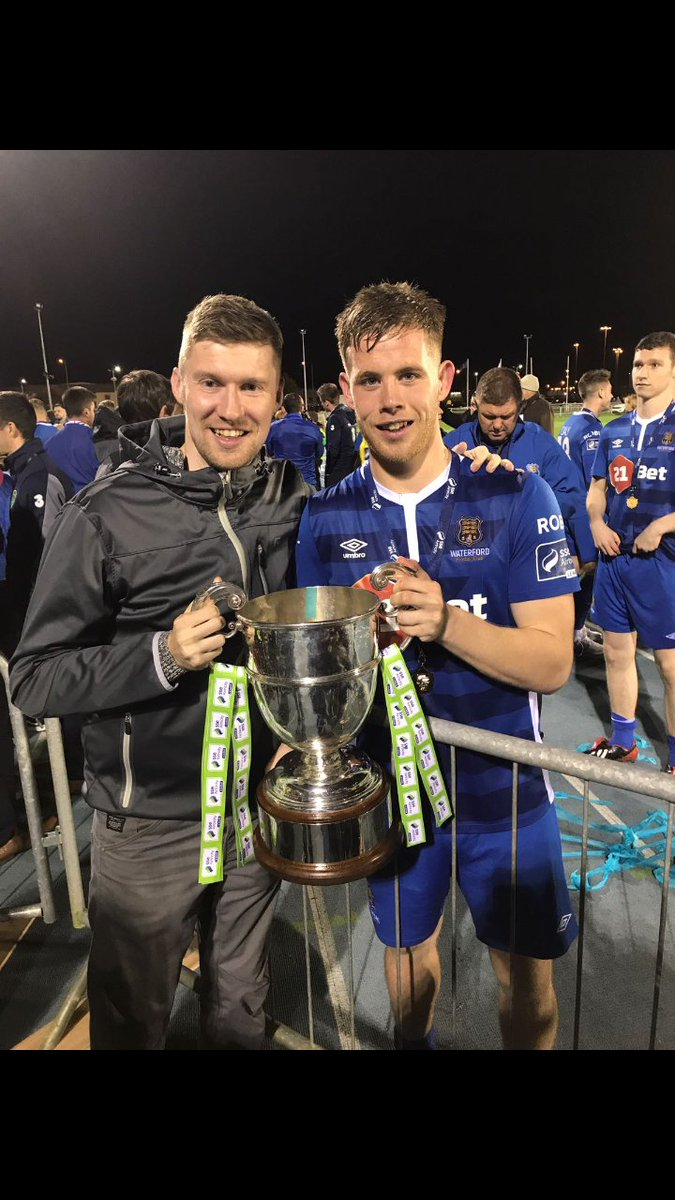Couldn&#39;t be prouder of this lad tonight. Another solid 90 minutes. @WaterfordFCie. #champions #wearegoingup<br>http://pic.twitter.com/pbIE8bLYBw