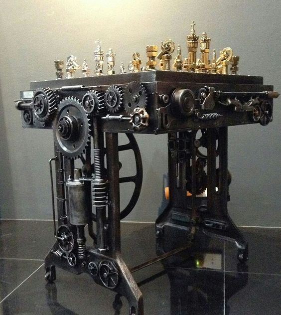 #Steampunk Awesome of the Day: 'Battle of the Nuts' #Chess Set by Ram Mallari Jr. v/ @raumplanungtv #SamaCuriosities