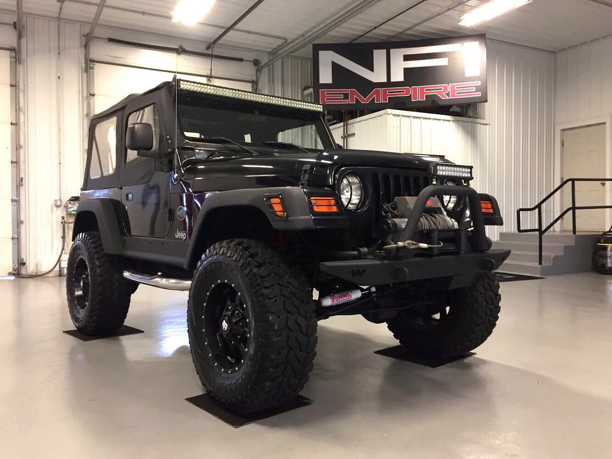 Nfi Empire On Twitter 2004 Rocky Mountain Edition Jeep Wrangler Tj Sits On A 4 Suspension Lift 35 Inch Firestone Destination Tires 17 Trail Master Wheels Https T Co Ovkuqtvdho