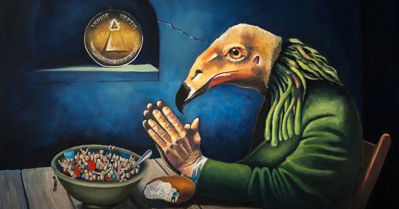Vulture: Work in Progress 17  https:// buff.ly/2xzzJB6  &nbsp;   #FineArt #contemporaryart  #artwork #wip  #tutorial #oilpainting #artsblog<br>http://pic.twitter.com/FEnexD62UT