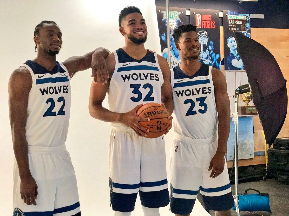 These new T-Wolves unis �� (via @Timberwolves) https://t.co/7e7u9ftE2Q