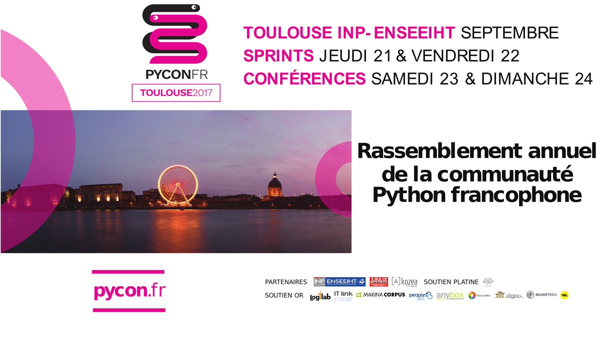 Today and tomorrow our team is attending @pyconfr in #Toulouse #week-end #community #Python<br>http://pic.twitter.com/EuA1epZ7yA