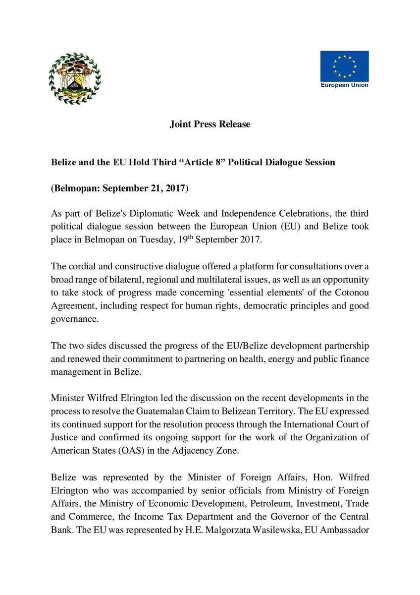 Belize MFA 🇧🇿 on Twitter: