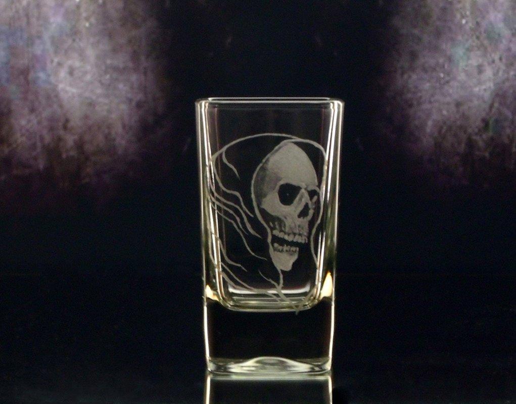 Shot Glass grim reaper clear glass shot glass,skull  glassw…  http:// tuppu.net/8797dc68  &nbsp;   #GlassGoddessNgraving #handmade <br>http://pic.twitter.com/eFvmzBFgSN
