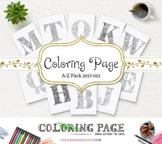 #Coloring Pages Alphabets A-Z Printable Coloring Page Instant Download #Printable Adult #ColoringBook #WallArt  https:// buff.ly/2jLyz0e  &nbsp;  <br>http://pic.twitter.com/FIruqGx0Ch