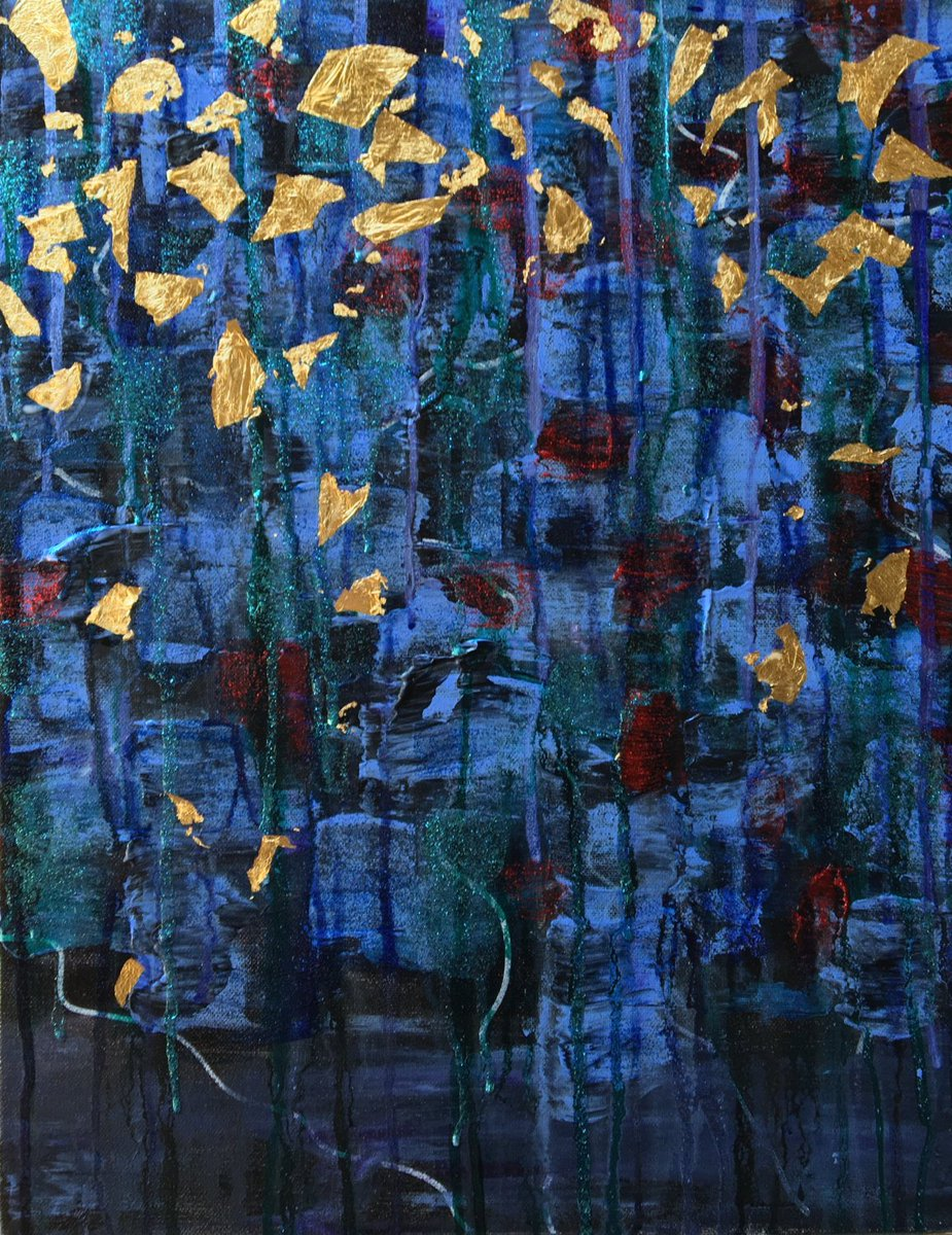 Jackson -Beautiful, Abstract, Original, Acrylic, Canvas, Painting, Tapestry,  Gold Leaf, Blue  https:// seethis.co/kXgKVY/  &nbsp;   #fineart #gallery<br>http://pic.twitter.com/VWC9Lh46GQ