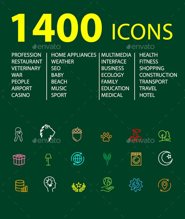 1400 Icons, just 10$  #KPRS #ATSocialmedia #USA #Canada #design #Logo_a_day #FlockBN #uksopro #giftideas #eshopsuk    https:// graphicriver.net/item/1400-icon s/20659110 &nbsp; … <br>http://pic.twitter.com/MfWGIXdTgZ
