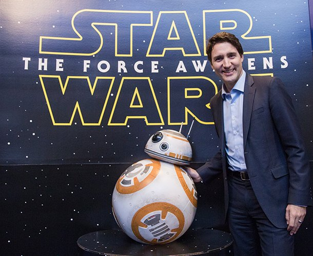#JustinTrudeau - #America loves you so much!! Please adopt us!  The #Force is Strong with #Canada   #MTFBWY  #StarWars<br>http://pic.twitter.com/KvBVmLORSQ