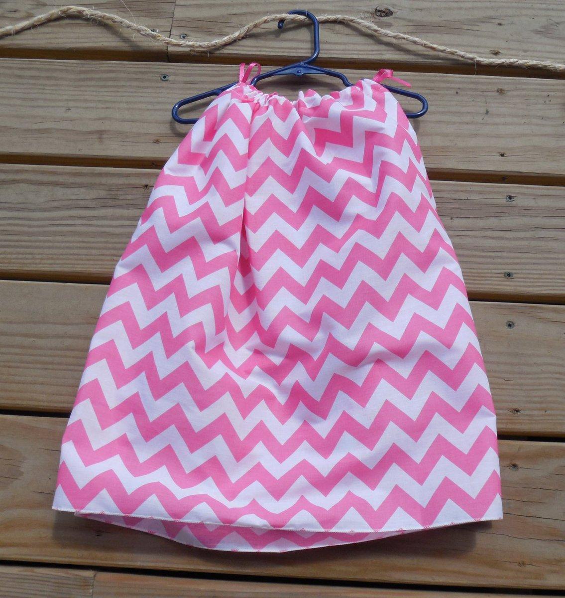 CLEARANCE Girls Pillowcase Dress Pink and White Chevron Print wit…  http:// tuppu.net/49395770  &nbsp;   #GabbysQuilts #EpicOnEtsy <br>http://pic.twitter.com/0LInTI82Hl