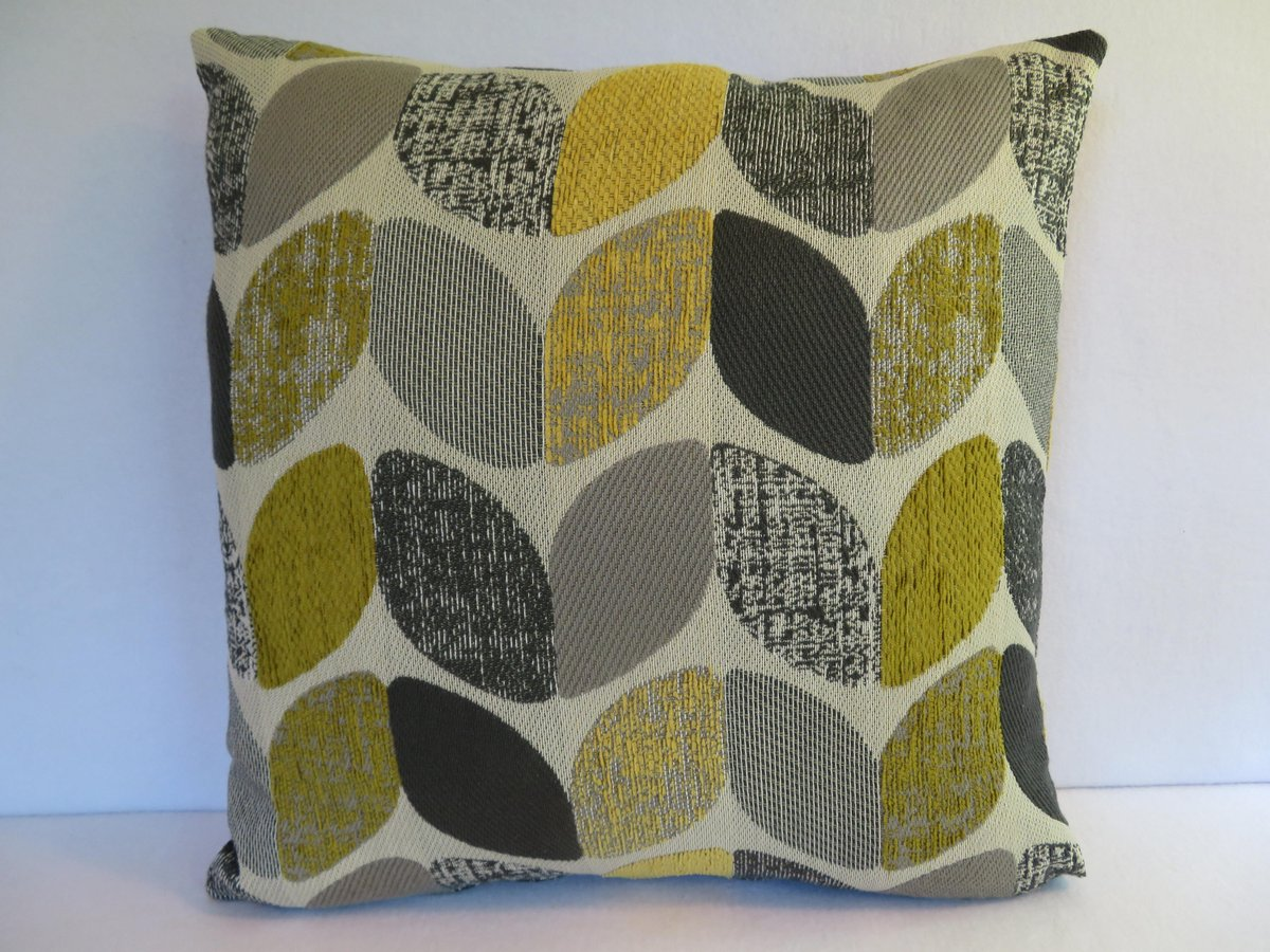 Geometric Pillow Cover in Yellow Grey Charcoal Beige..  https:// seethis.co/Gby2Zr/  &nbsp;   #handmade #pottiteam<br>http://pic.twitter.com/g3bE7xDbvB