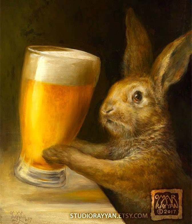 &quot;Bunny with Beer&quot; prints now available. See my profile for the link.  #beer #bunny #rabbit #bardecor #mancave #cra…  http:// ift.tt/2yjgt8d  &nbsp;  <br>http://pic.twitter.com/0g9SsQo6Fw