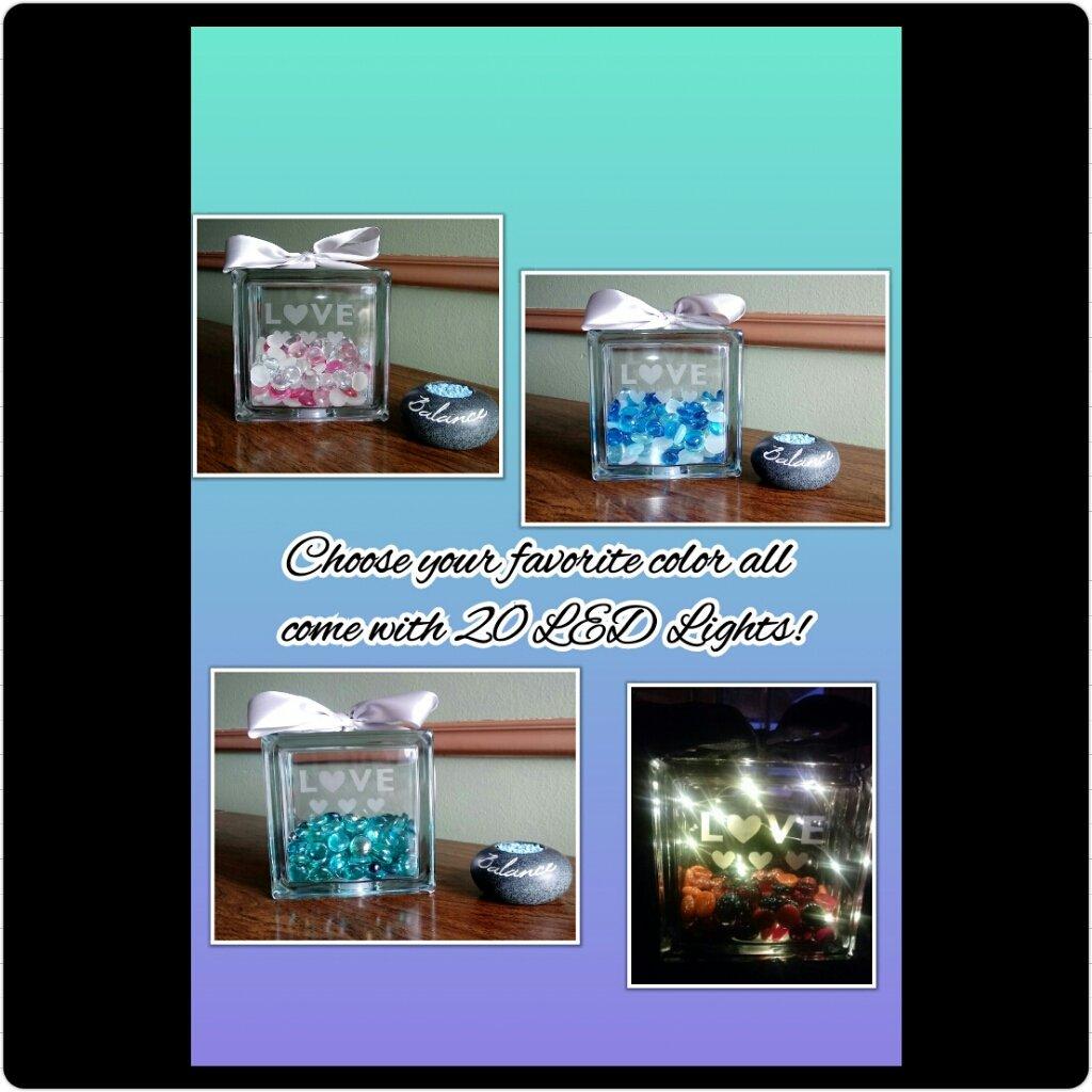 https://www. etsy.com/shop/JourneyRo seCreations &nbsp; …  6 x 6 Glass Love Light Block! #love #etsy #gems #home decor #gift #blue #pink #teal #red #black #white<br>http://pic.twitter.com/tNBlJqVW02