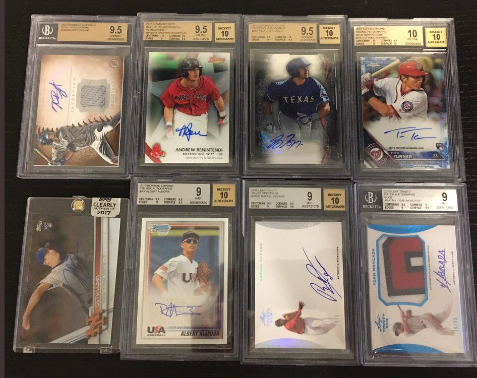FS! MLB Autos/#d/SPs/RCs! DM me! Prices negotiable! More available, let me know who you collect! (1 of 3) @linkmycard @CollectTheGame<br>http://pic.twitter.com/el09SAAQuj