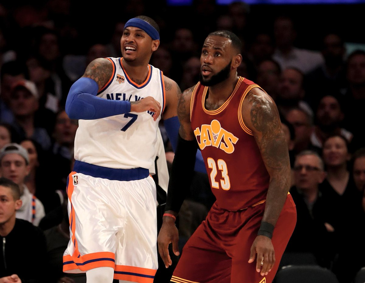 Carmelo Anthony reportedly okays Cleveland Cavaliers as trade destination  MORE: https://t.co/5ueCFecVPB