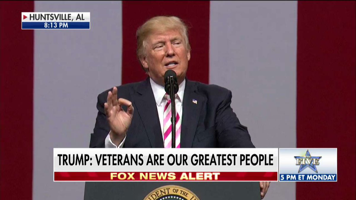 .@POTUS: Veterans are our greatest people. https://t.co/IWRgTcibLJ