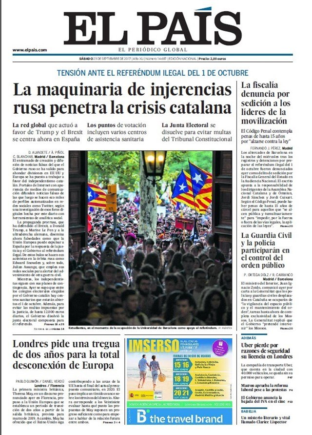 Las portadas de los periódicos de hoy #FelizSábado https://t.co/6nEP7F...
