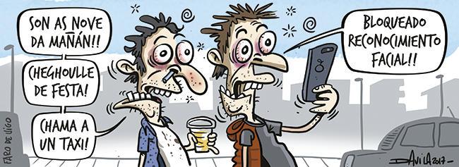 #FelizSábado 📱 Tanta tecnoloxía...  Máis #humorGalego con @OBichero ➡️...