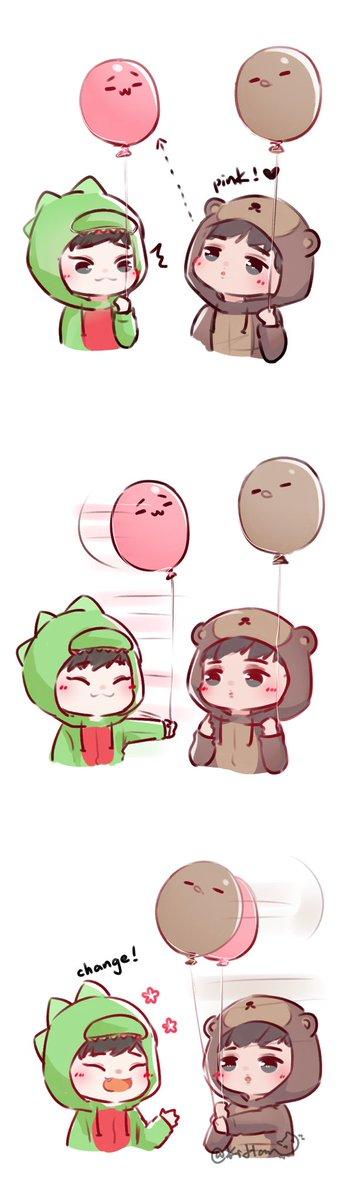 #EXO balloon Part.1 #CHEN &amp; #KAI  Part.2 #ChanYeol &amp; #BaekHyun  Part.3 #XIUMIN #DO #SUHO #SEHUN #LAY<br>http://pic.twitter.com/ouomhUbxeE