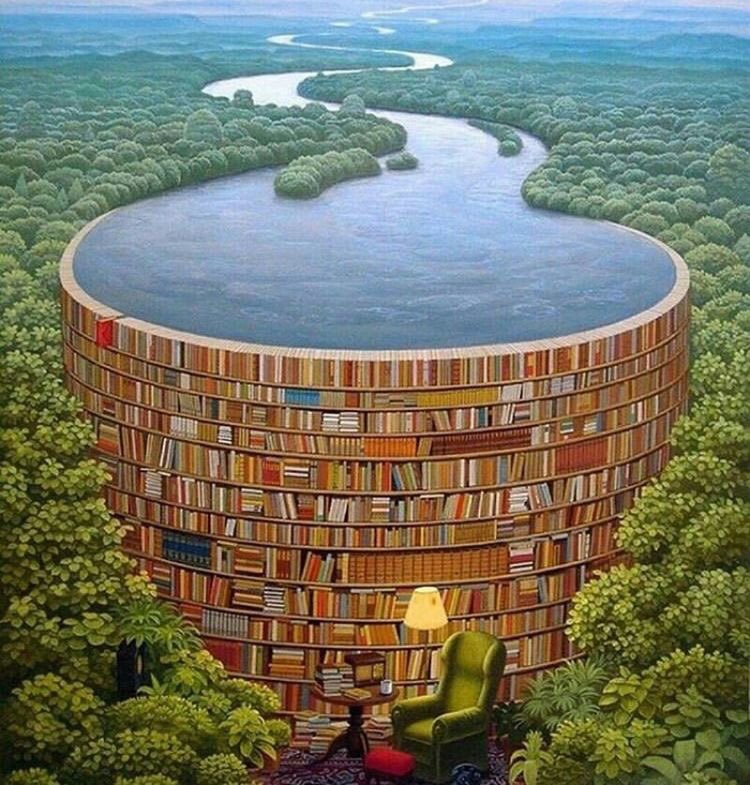 ❦Knowledge wasted is knowledge  lost.~Anne Scottlin #read #books #amreading #dam #Painting by Jacek Yerka<br>http://pic.twitter.com/IKfZgMHPQA