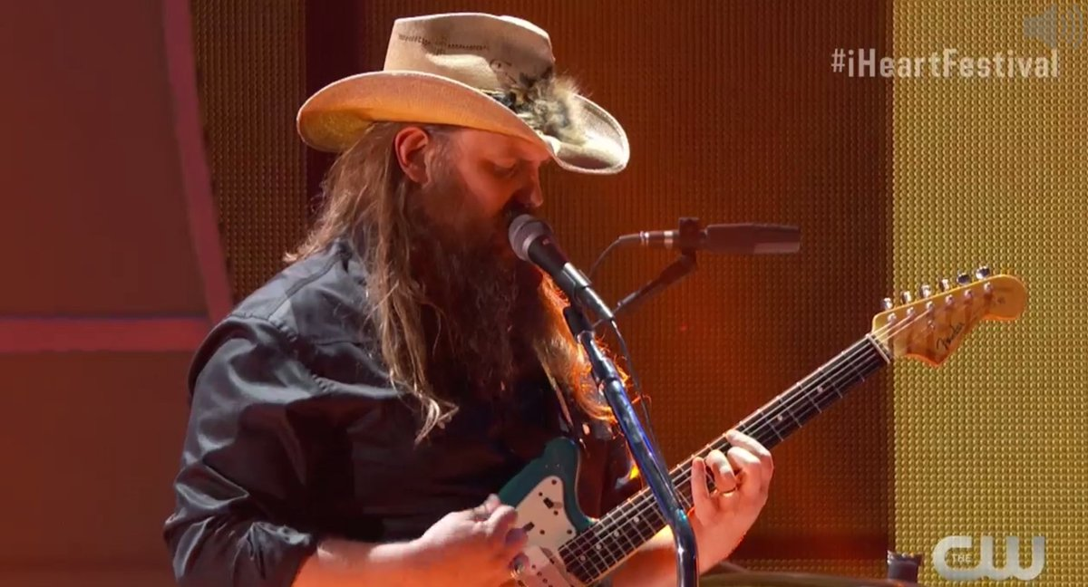 .@ChrisStapleton you can sing to us all night! ❤️ #iHeartFestival