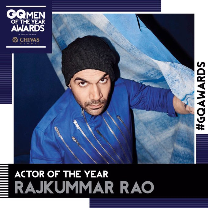 Thank u @gqindia for this prestigious award last night. #GQActoroftheyear #GQAwards. One of the best Fridays ever. Super Reviews,Oscars & GQ https://t.co/Npv6KnglXN