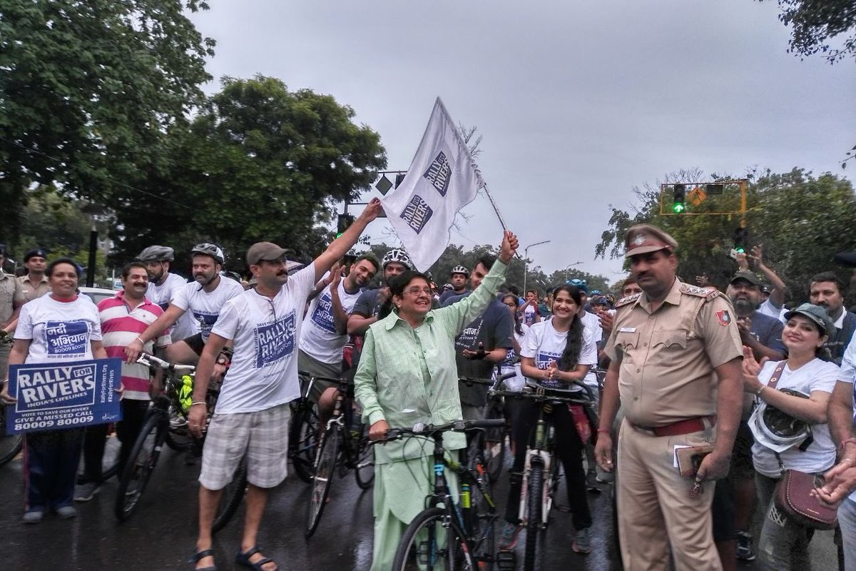 Thanks to Invite by Administrator UT to Flag off the #RallyforRivers in Chandigarh today, I could bike for a Cause. Chgarh can continue to..