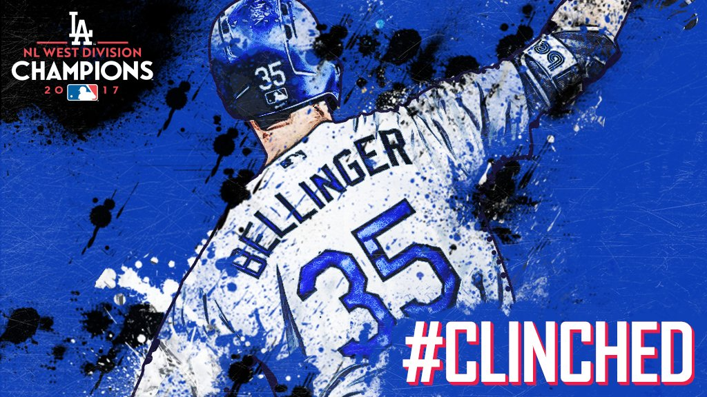 5 years, 5 straight division titles.  The @Dodgers run the NL West once again. #CLINCHED