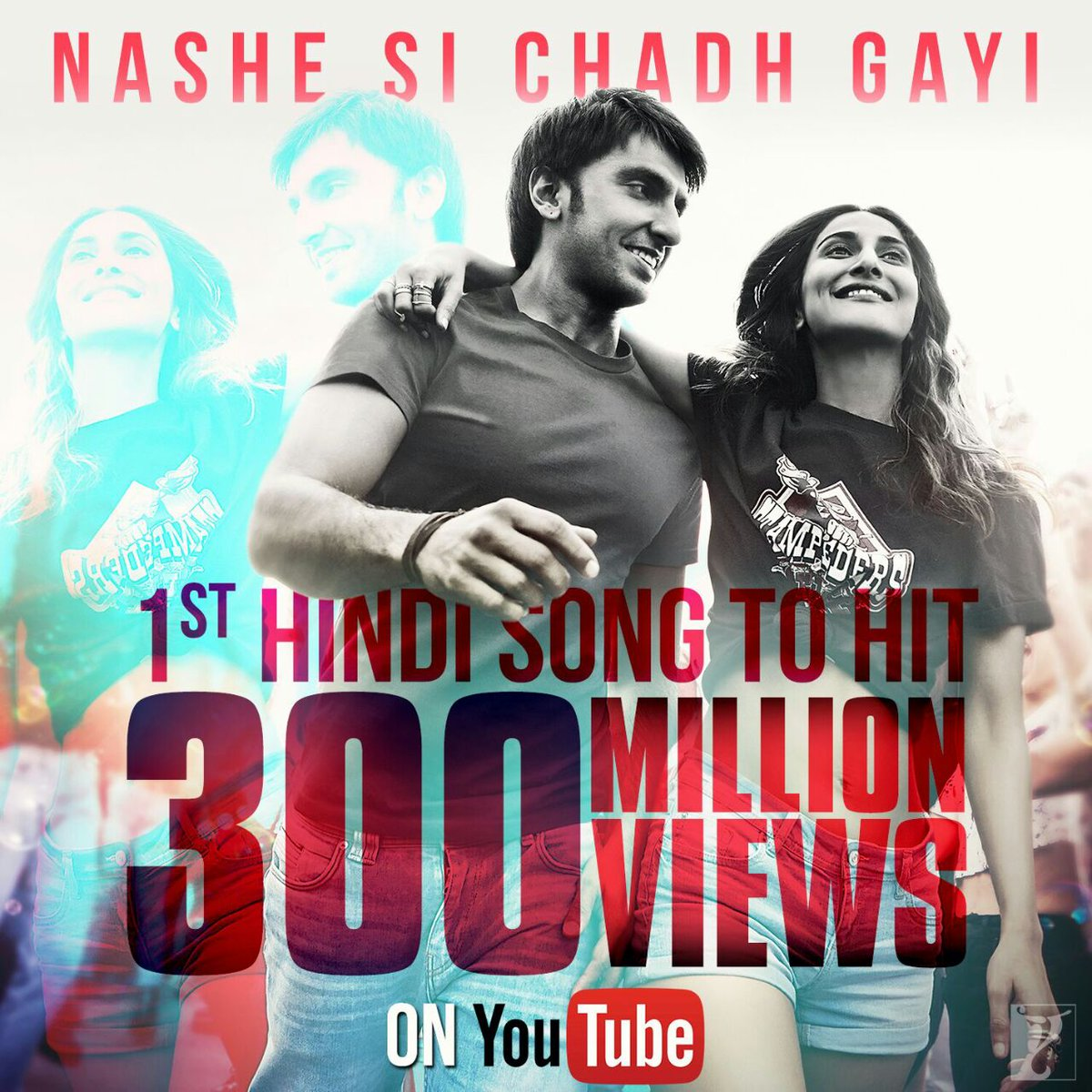 This song still 300M Hearts 😍 #300MillionViewsOnNasheSi @yrf @befikret...