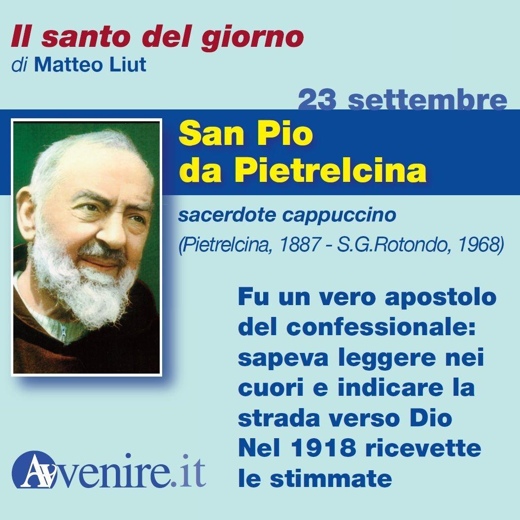 #23settembre San Pio da Pietrelcina https://t.co/QQzuX7LVNw https://t....