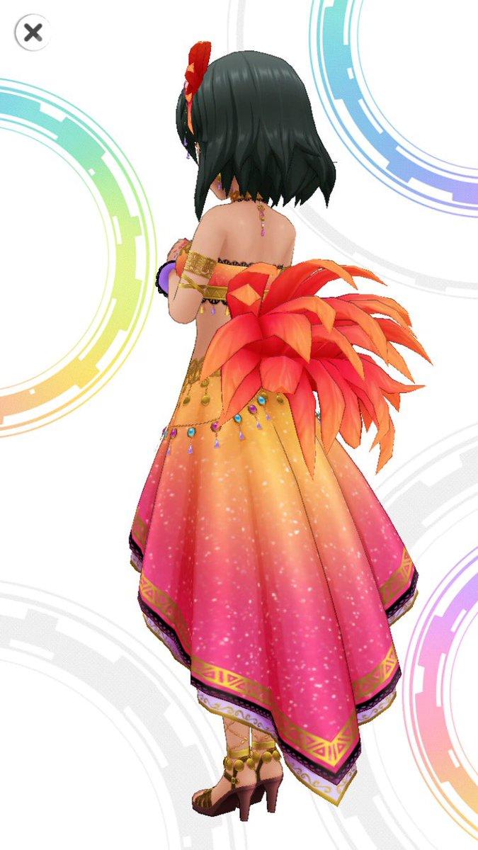 ナターリアちゃんのSSR衣装です ご確認ください サンバ風ドレス最高 #デレステ