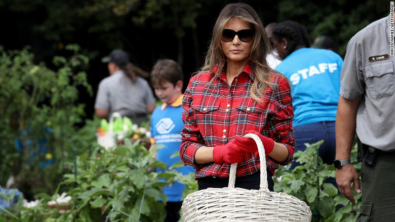 At Melania Trump's garden event, there were echoes of Michelle Obama https://t.co/OSiEiq2lqj https://t.co/tUI9rBnw4H