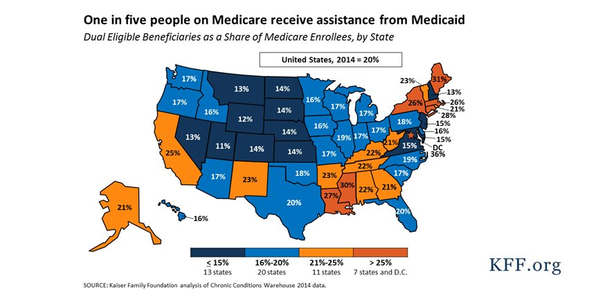 11 million #Medicare beneficiaries receive help from #Medicaid. What could a per capita cap mean for them?  http:// kaiserf.am/2xpbSSv  &nbsp;  <br>http://pic.twitter.com/yKGiM5UFQ0