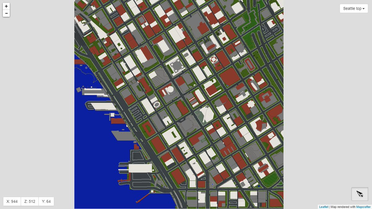GeoBoxers on Twitter Downtown CityofSeattle in Minecraft from
