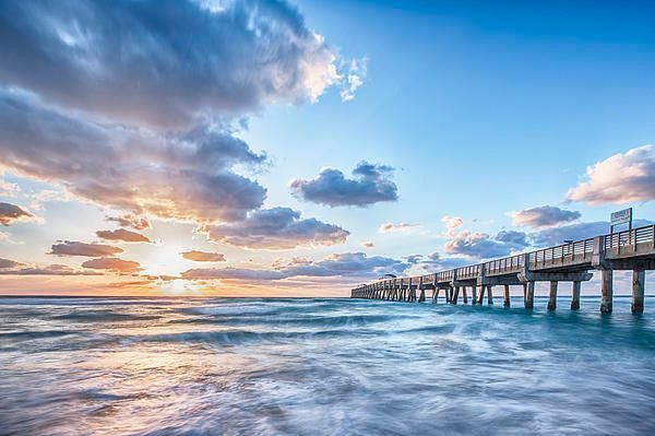 Artwork for your #house #office #ocean #sunrise on #canvas from #lakeworth #pier #florida  https:// buff.ly/2xdWSJw  &nbsp;   #fineartamerica #artworks <br>http://pic.twitter.com/M84L8lnU1E