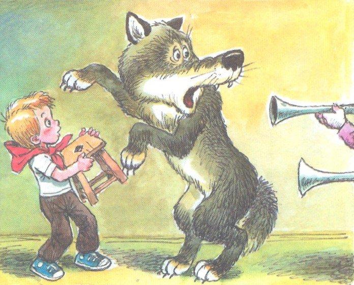 все ради рисунок к сказке петя и волк картинки кто