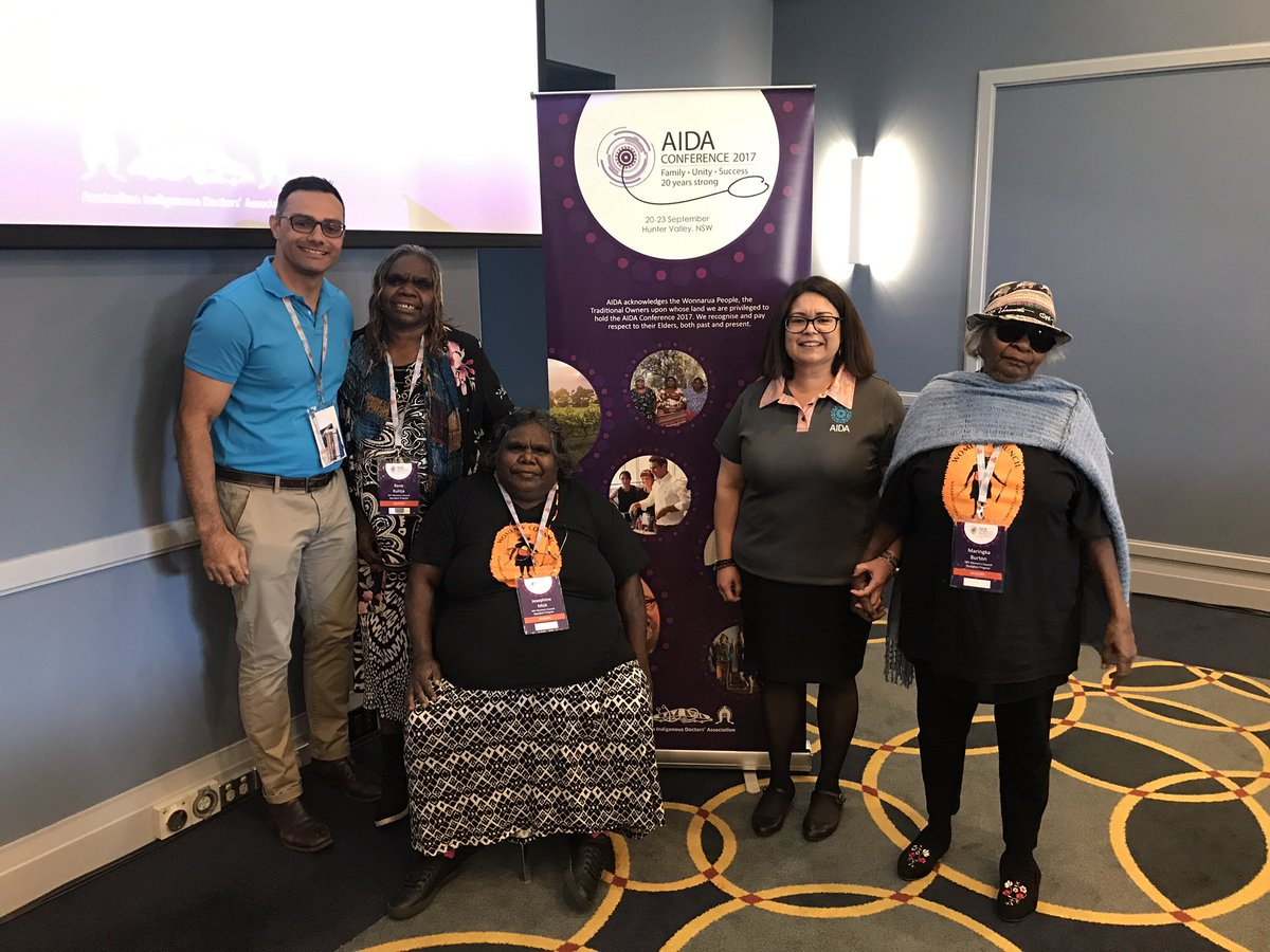 Thanks @AIDAAustralia #AIDAConf2017 for renewing our strength &amp; purpose in #medicine with our Ngankari - traditional healers <br>http://pic.twitter.com/5dfjCla4Sr