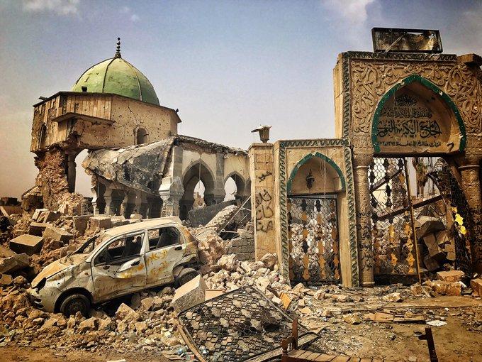 Visiting UNESCO, Iraqi President pleads for reconstruction of Mosul DKZIC1DWsAAZUU-?format=jpg&name=small