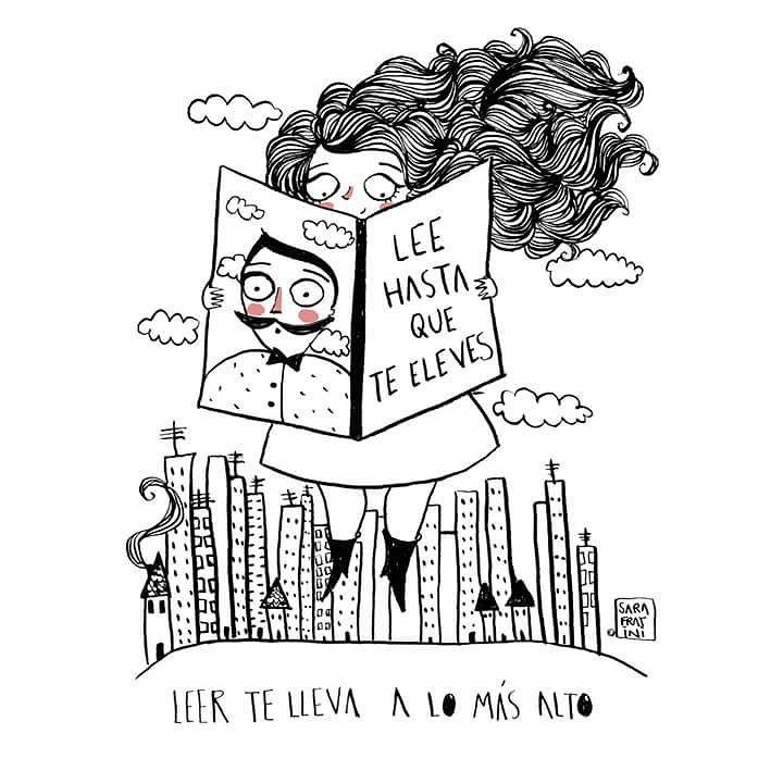 «Lee hasta que te eleves» *Ilustración @sarafratini  #FelizSábado http...