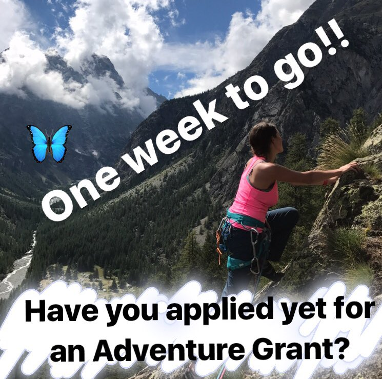 Just one week to go before I close applications for the £500 #womens #adventure #grants. T&amp;Cs and how to apply:  https:// instagram.com/p/BYLspdUHi1I/  &nbsp;   RT!<br>http://pic.twitter.com/E1T0cEt8dm