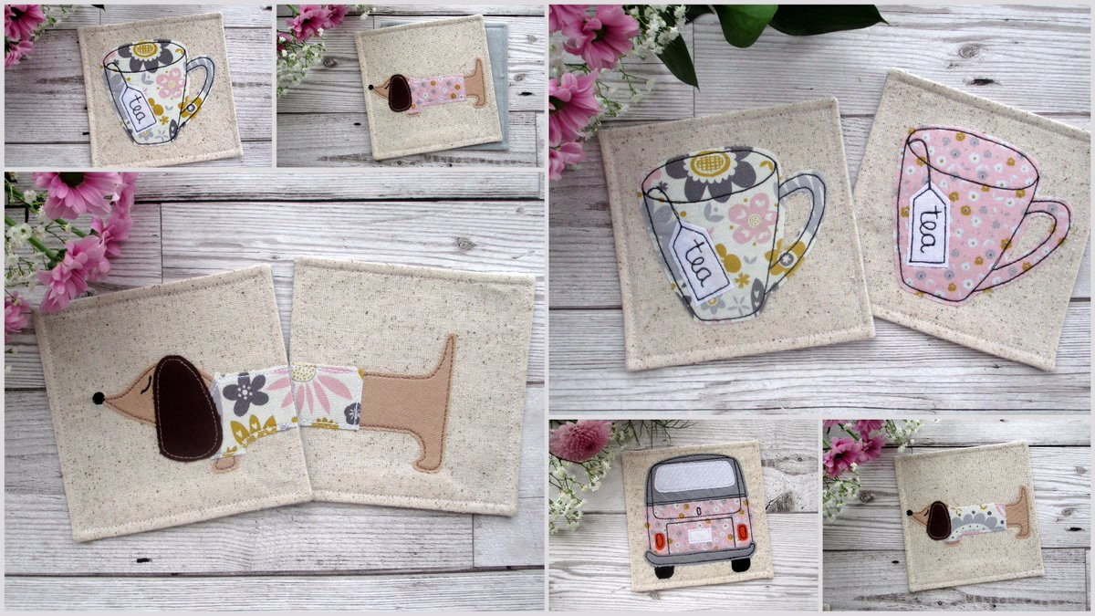 Fun &amp; quirky fabric coasters to pretty up your cuppa!! #womaninbiz #handmade #epiconetsy   https://www. etsy.com/uk/shop/TheCor nishCoasterCo &nbsp; … <br>http://pic.twitter.com/HVNzxcOsJj