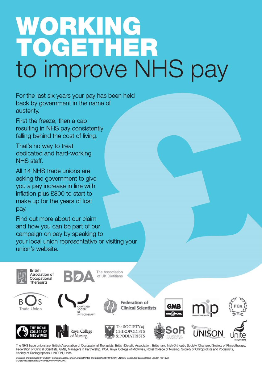 Working together to improve NHS pay #fairpayoverdue #scrapthecap https...