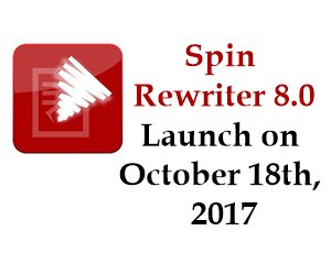 http:// bit.do/spinrewriter80  &nbsp;   Spin Rewriter 8.0 launch deal with Amazing Bonus at 18 OCT 2017! Free Trial 5 Days #seo #spinrewriter #marketing<br>http://pic.twitter.com/jHf62Vdw5S