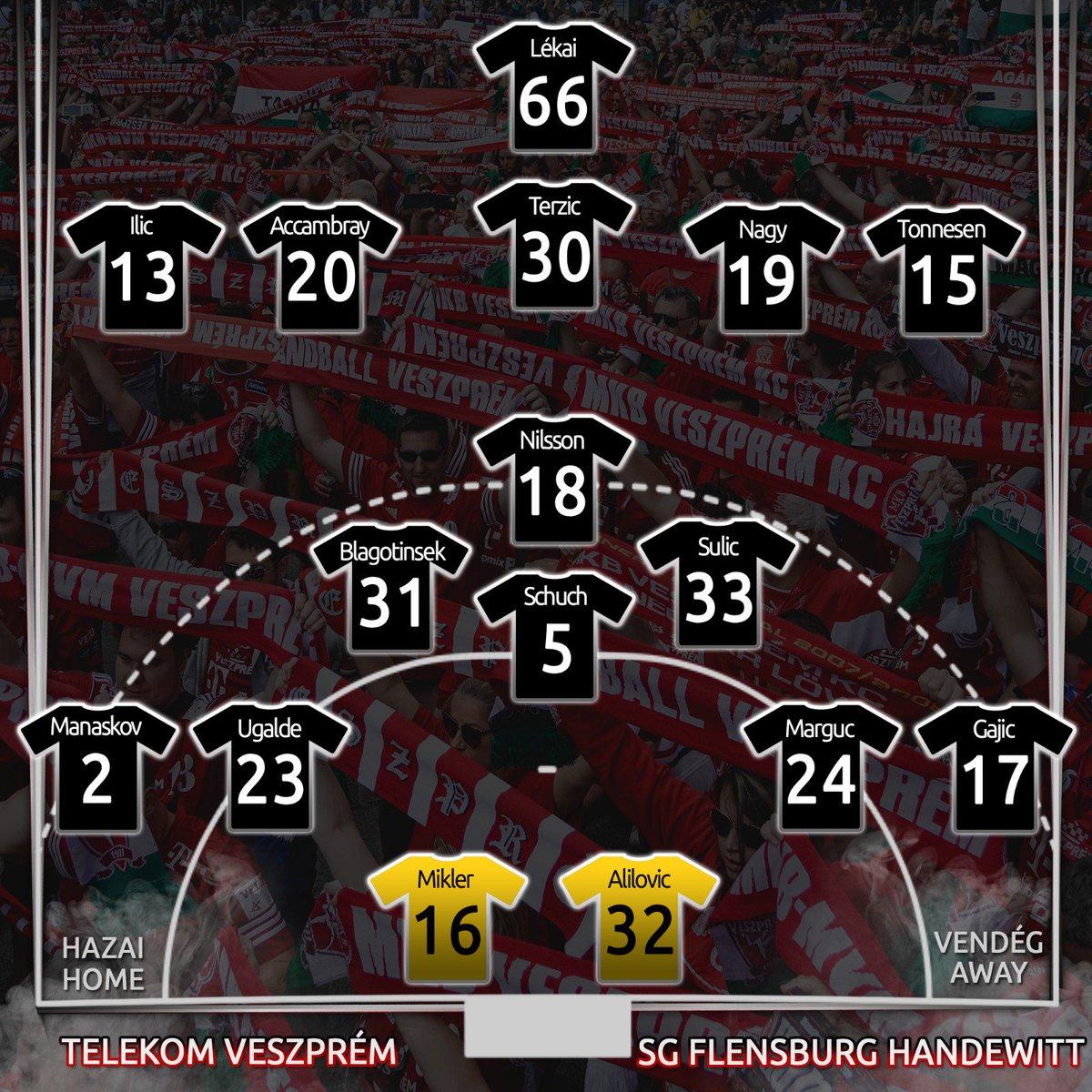 Here is our squad for the game against @SGFleHa in the @ehfcl! #HandballCity #WeAreVeszprem https://t.co/2BasKJnHRn