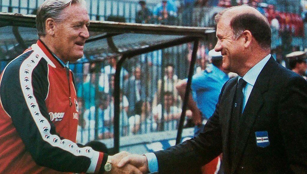 #EugenioBersellini (#Sampdoria) and #NilsLiedholm (#ACMilan) the #Cupfinal 1984/85.  #CoppaItalia<br>http://pic.twitter.com/S3LduazaYp