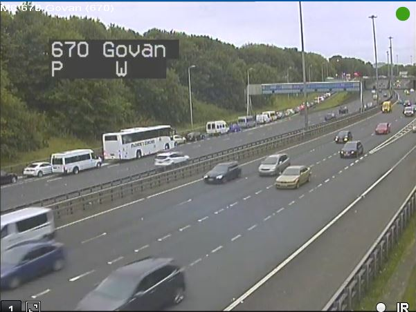test Twitter Media - Queues already starting to build heading into Glasgow for the 12pm kick off on the #M8 #PlanAhead https://t.co/WFpLeDxAeQ