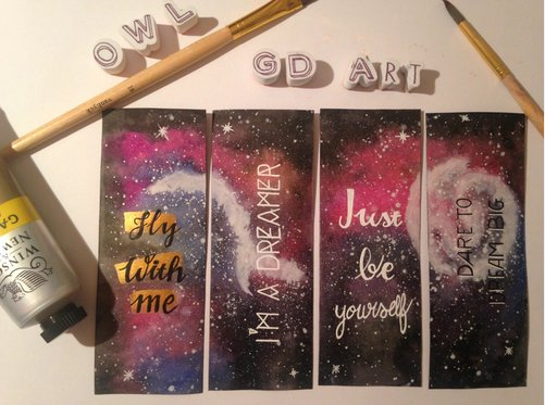 New Bookmark watercolor galaxy . #bookmark #watercolor #aquarelle #paint #marquepages #quotes #citation  lot de 4 MP <br>http://pic.twitter.com/6JGitBNbVc