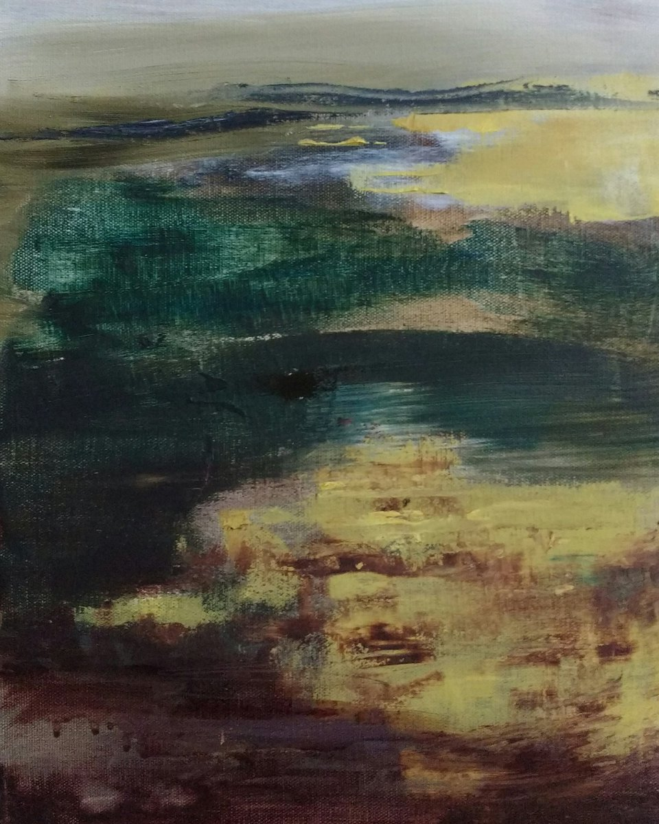 &#39;Mist on the Moor&#39; oil on canvas showing @SilsonArt from 6th Oct for their 1st year anniversary show #Yorkshire #contemporary #art #gallery<br>http://pic.twitter.com/z6wb2t1QBh